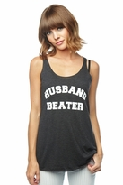 Local Celebrity Husband Beater Karson Tank in Black