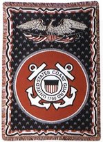Simply Home U.S. Coast Guard Triple-Layer Throw Blanket