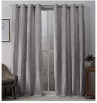 "Exclusive Home Stanton Branch Textured Grommet Top Curtain Panel Pair, 54"" x 84"""