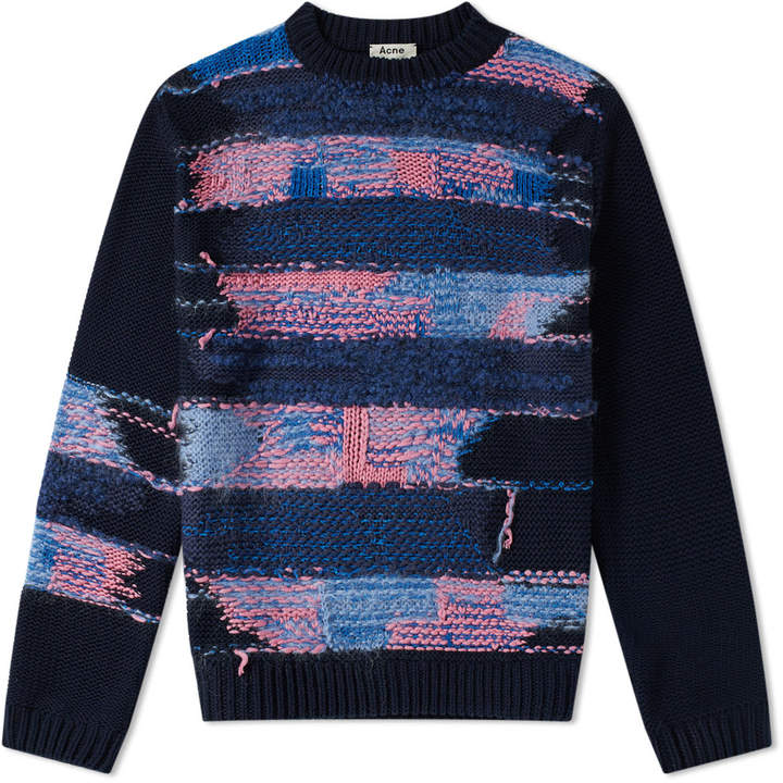 Acne Studios Irregular Stripe Knit Sweat