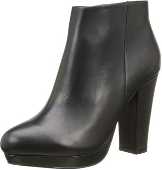 Buffalo London 410-10645 L SILK LEATHER Womens Ankle boots