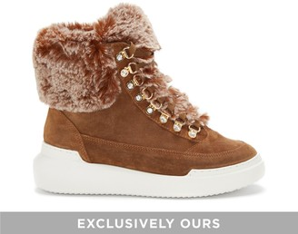 Vince Camuto Shelsta Faux Fur-trimmed Hiking Boot
