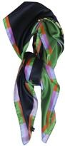 Cynthia Rowley Colorblock Floral Print Scarf