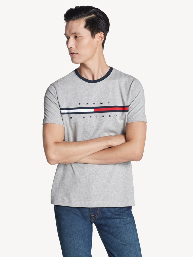 Tommy Hilfiger Adaptive Men's New England Tommy Flag Shirt