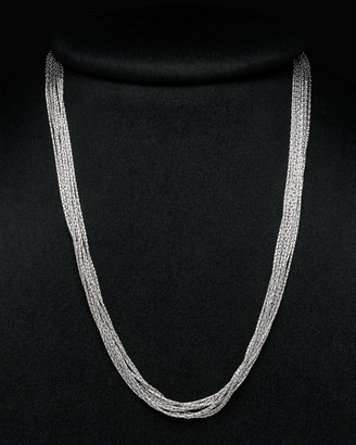 Italian Silver Shiny Fancy Multi-Strand Necklace