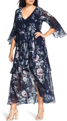 City Chic Mysterious Garden Maxi Dress
