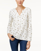 G.H. Bass & Co. Bee-Print Blouse