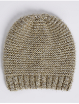 M&S Collection Sparkle Beanie Hat