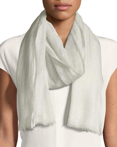 Bindya Sparge Cashmere Accent Desire Stole, Light Gray
