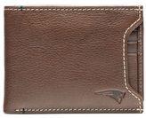 JACK MASON Jack Mason NFL New England Patriots Stadium Leather Sliding 2-in-1 Wallet in Brown