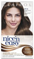 Clairol Nice 'n Easy, 5/118 Natural Medium Brown, Permanent Hair Color, 1 Kit (Pack of 3)
