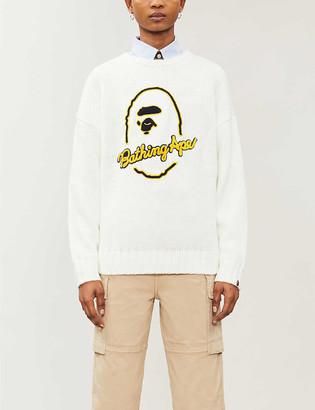 BAPE Logo-embroidered knitted jumper