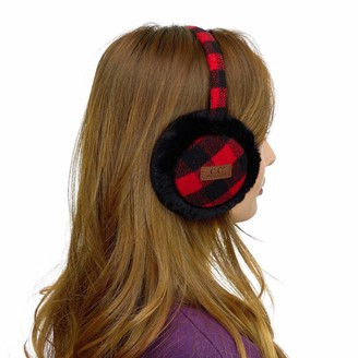 C.C Exclusives Tartan Check Earmuff with Faux Fur(EM-2339) - red - One Size