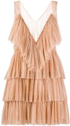 VIVETTA Ruffled Lace Dress