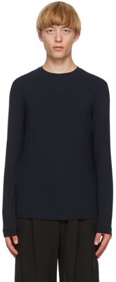 Giorgio Armani Navy Jersey Long Sleeve T-Shirt
