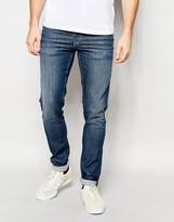 Pepe Heritage Pepe Jeans Powerflex Finsbury Superstretch Skinny Fit Big Twill Mid Blue