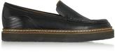 See by Chloe Black Leather Platform Loafer