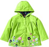 Mingao Girls Raincoat Flower Waterproof Hooded Warm Outdoors