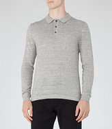 Reiss Tucker Melange Polo Shirt
