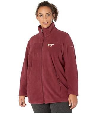 Columbia College Plus Size Virginia Tech Hokies CLG Give and Gotm II Full Zip Fleece Jacket