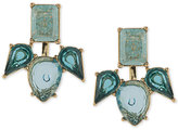 Carolee Gold-Tone Blue Stone Earring Jackets