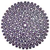 "Sur La Table Bamboo Beaded Placemat 25868 NAT , 15"", Blueberry"