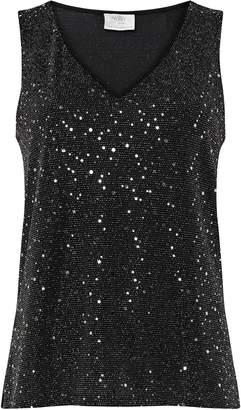 Wallis PETITE Silver Sequin Camisole Top
