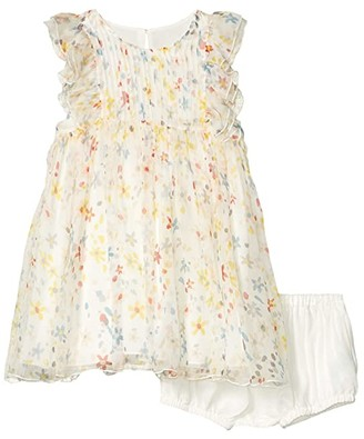 Stella McCartney Sleeveless Splash Flowers Silk Dress (Infant) (Multi) Girl's Clothing