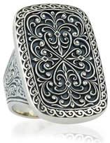 Konstantino Large Silver Rectangle Filigree Ring