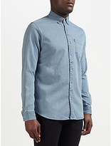 Denham Standard Dry Soft Denim Shirt, Light Blue