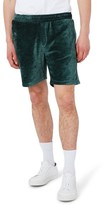 Topman Men's Piped Velour Shorts
