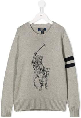 Ralph Lauren Kids knitted logo sweater