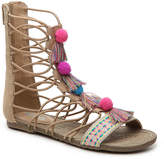 Mia Girls Jordy Pom Pom Toddler & Youth Gladiator Sandal -Nude