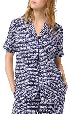 MICHAEL Michael Kors Printed Piped Pajama Shirt