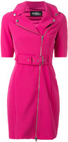 Jeremy Scott zipped shoulders belted dress - women - Polyester/other fibers - 40