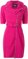 Jeremy Scott zipped shoulders belted dress - women - Polyester/other fibers - 42