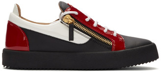 Giuseppe Zanotti Red and Black May London Frankie Sneakers