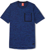Nike - Slim-fit Knitted Cotton-blend T-shirt