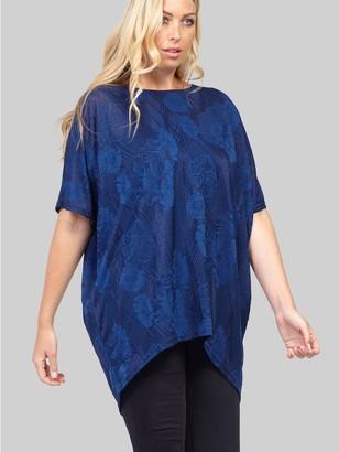 M&Co Izabel Curve floral oversized t-shirt