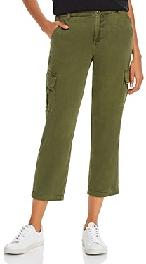 Blank NYC Cropped Straight-Leg Cargo Pants