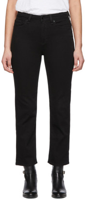 Rag & Bone Black Nina High-Rise Ankle Cigarette Jeans