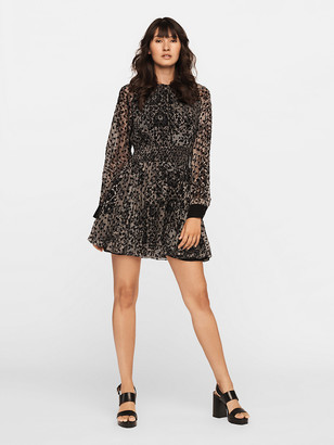 Diane von Furstenberg Rocky Velvet Burnout Mini Dress