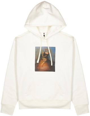 Oamc Totem off-white hooded cotton sweatshirt