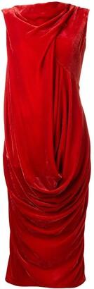 Rick Owens drape midi dress