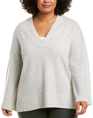 Lafayette 148 New York Plus Vanise Relaxed Cashmere Sweater