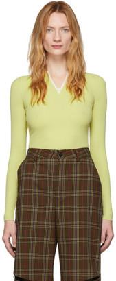 Sunnei Green Zipped Sweater