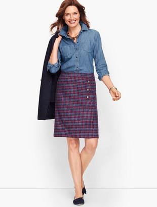 Talbots Faux Wrap A-Line Skirt - Plaid