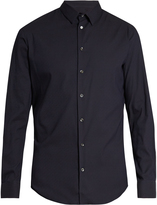 Giorgio Armani Single-cuff diamond-jacquard shirt