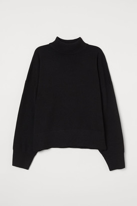 H&M Knit Mock-turtleneck Sweater - Black