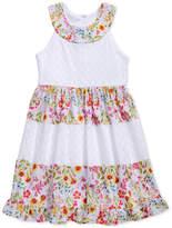 Sweet Heart Rose Floral-Print Lace & Eyelet Dress, Toddler Girls
